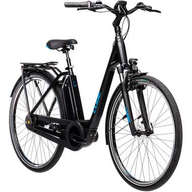 Bicicletta da Città Elettrica CUBE TOWN RT HYBRID PRO 500 WAVE Nero/Blu 2021